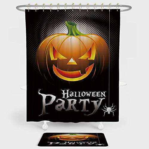 iPrint Halloween Shower Curtain And Floor Mat Combination