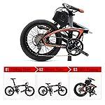 SAVANE-E8-Bicicletta-elettrica-Pieghevole-20-E-Bike-in-Fibra-di-Carbonio-Pedelec-Bici-Pieghevole-con-Motore-Centrale-200W-Shimano-Sora-9-Marce-e-Batteria-Rimovibile-agli-ioni-di-Litio-36V87Ah