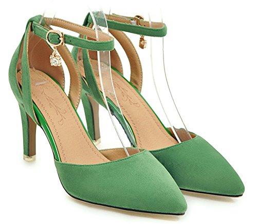 Breloque Nouveau Modèle Femme Elégant Vert Escarpins Pointue Bal Aisun HIzqTwx1