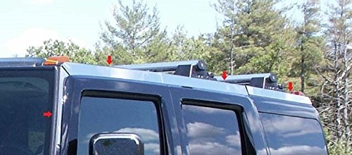 [Hummer H2 2003-2009 Stainless Steel Chrome Roof Rack Inserts Trim 8PCS] (Roof Insert Trim)