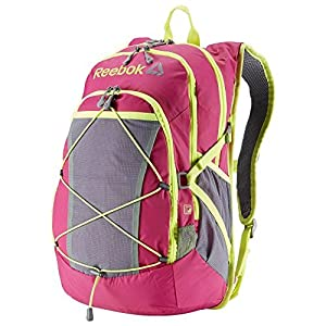 Reebok Hyperion Backpack w/ Port For Water Bladder - Pink w/ Yellow Trim