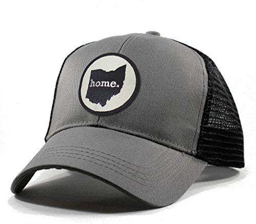 Homeland Tees Men's Ohio Home State Trucker Hat Grey