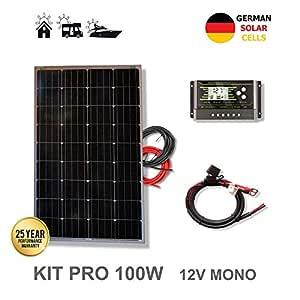 VIASOLAR Kit 100W Pro 12V Panel Solar monocristalino células ...