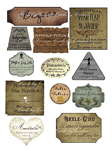 Harry Potter Halloween 12 potion assorted label stickers scrapbooking crafts New]()