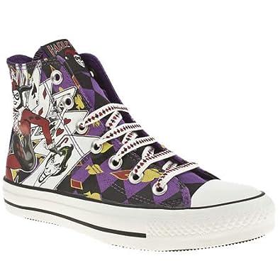 27ba748b87ab Converse Allstar Hi Iii Harlequin Print - 4 Uk - Black   Purple - Fabric   Amazon.co.uk  Shoes   Bags