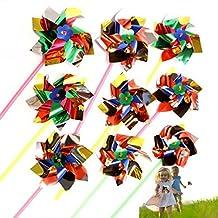 MS 12Pcs Paradise Party Pinwheels Multi Flamboyant Colors CJ548