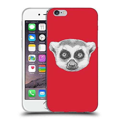 """GoGoMobile Coque de Protection TPU Silicone Case pour // Q05390601 Portrait lémurien Alizarine // Apple iPhone 6 4.7"""""""