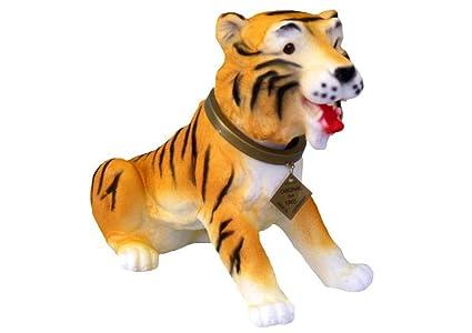 Muñecos con cabezas Tiger 28 cm gnomo de jardín con el perro de peluche PVC decorativo
