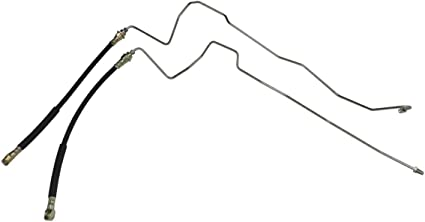 2pc Stainless Steel Y-11-9 w//Flex Hose Compatible With 2002-2004 Dodge Dakota Four Wheel Disc ABS Rear Axle Brake Lines
