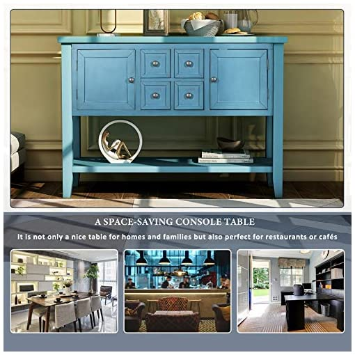 Farmhouse Buffet Sideboards Merax Buffet Retro Style Sideboard Wood Console Table with Cabinets Drawers Shelf for Entryway Living Room Kitchen (Navy… farmhouse buffet sideboards