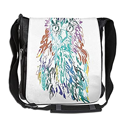 a96663153140 60%OFF Lovebbag Owl With Fluffy Swollen Colorful Feathers Large Eyes Vision  Sage Camouflage Character