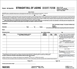 REDIFORM Bill of Lading, Snap-A-Way, Ruled, 3-Part, Carbonless, 8.5 x 7\