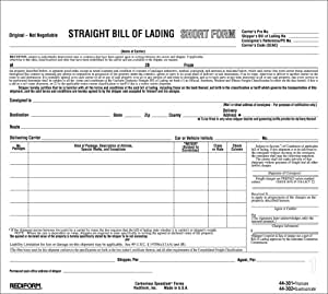"REDIFORM Bill of Lading, Snap-A-Way, Ruled, 3-Part, Carbonless, 8.5 x 7"", 250 Individual Forms (44301)"