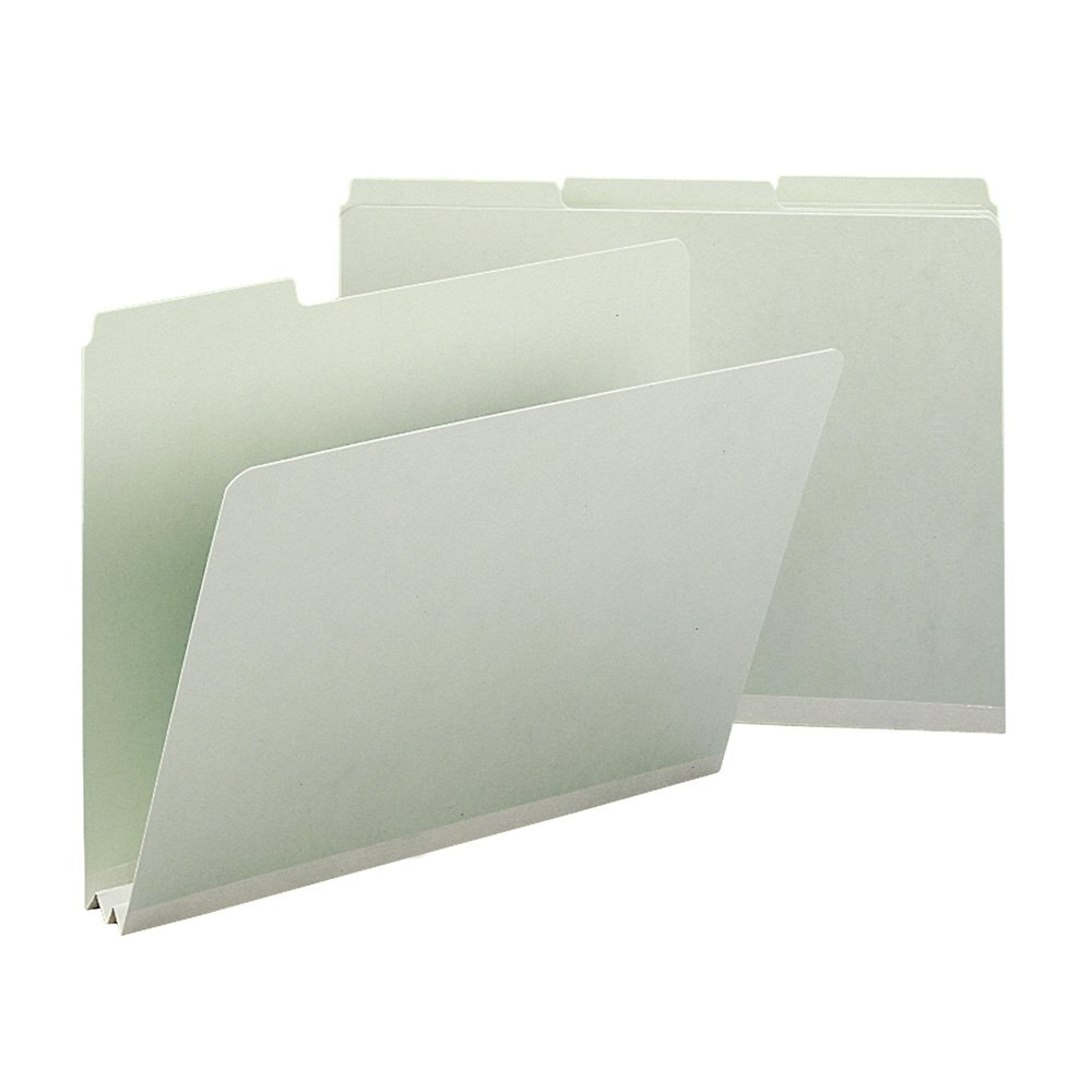 Smead 13234 Recycled Folder, Two Inch Expansion, 1/3 Top Tab, Letter, Gray Green (Box of 25) by Smead