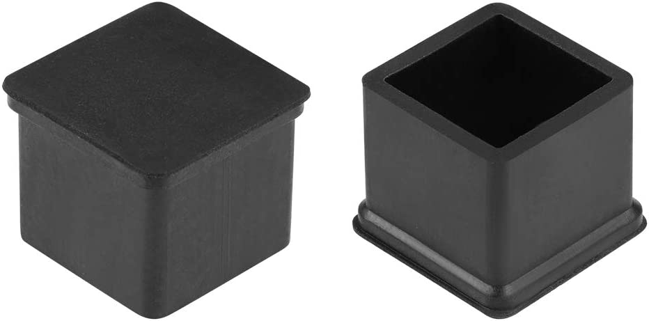 uxcell Rubber Furniture Caps 20mm x 20mm Square Shaped Table Chair Legs Covers 12Pcs