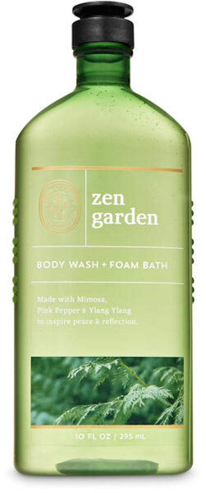 Bath and Body Works Body Care Aromatherapy - Body Wash + Foam Bath - 10 fl oz - Many Scents! (Zen Garden - Mimosa Pink Pepper Ylang Ylang)