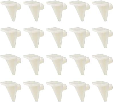 clips para estante de armario cierre de estante soporte de estante Pinzas de soporte para estante de pl/ástico con dise/ño de mapa de abastecimiento suministros de estantes para muebles de cocina