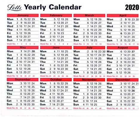 2020 Calendario de negocios anual inglés: Amazon.es: Oficina ...