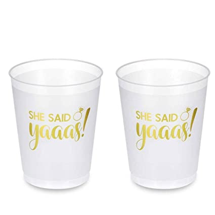 mintbon she said yaaas cups bachelorette party cups bridal shower cups 16 count 16 oz