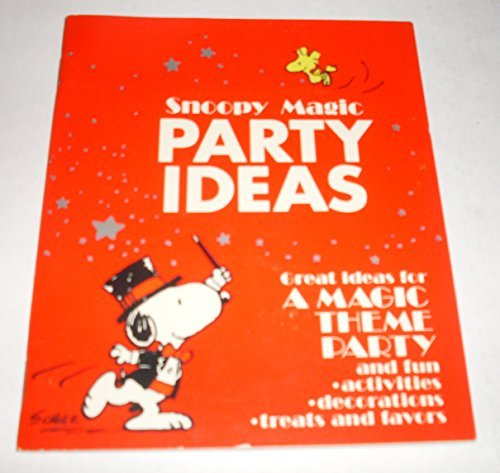 Peanuts Snoopy MAGIC Birthday Party Ideas - Hallmark Booklet -
