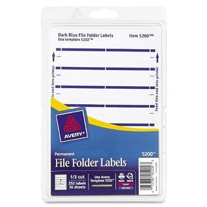 Amazon.com: Avery - Etiquetas para carpetas de impresoras ...