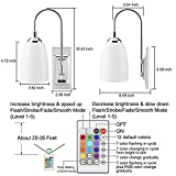 HONWELL Wall Lamp Battery Operated LED Wall Sconces