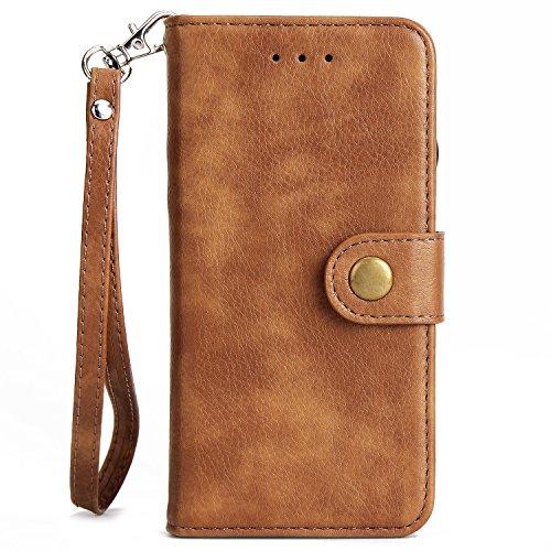 SRY-Bolsa para teléfono móvil Elegante 2 en 1 destacable Premium PU cubierta de cuero de la caja del soporte con ranuras magnéticas de cierre y ranura de tarjeta para el iPhone 7 ( Color : Blue ) Yellow