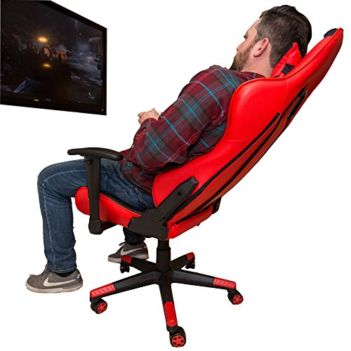 Sleekform Ergonomic Gaming Chair - Large - Stylish, Racing Style, High-Back Office Chair - Swivel Computer Chair With Lumbar Support & Headrest - Reclines Back 160 Degrees - Ultra Comfortable by Sleekform