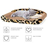 Cheap Cyttengo Cat Scratcher Durable Reversible Cat Scratching Pad Recycled Harden Corrugated Cardboard Sturdy Eco-Friendly Design Maintain Healthy Cat Claws and Protect Furniture from Harm Catnip Included