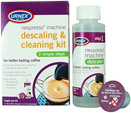 Urnex Kit de limpieza y descalcificación para Nespresso Máquina