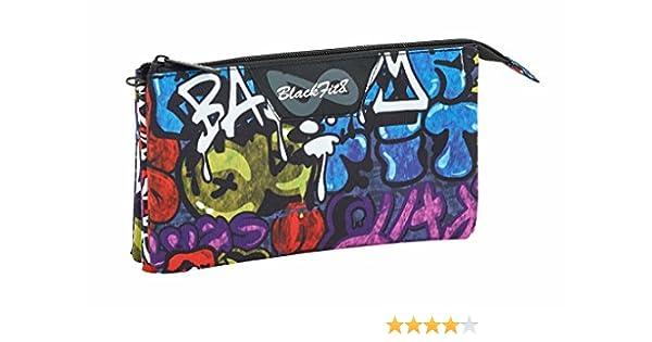 Blackfit8 Estuche portatodo Triple Escolar: Amazon.es: Equipaje