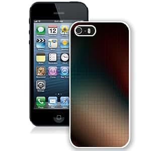 Beautiful Unique Designed iPhone 5S Phone Case With Squares Pattern Grid Blur_White Phone Case