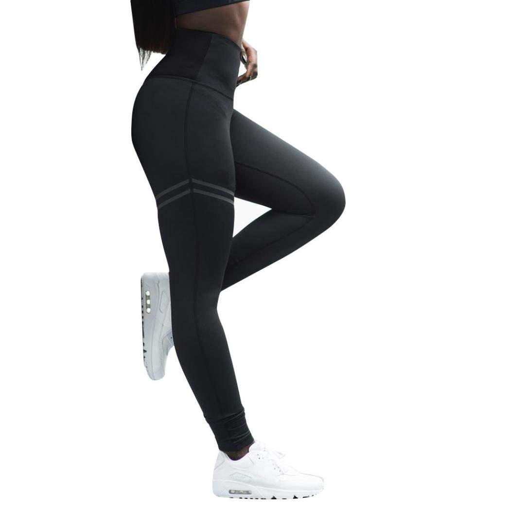 2957b8495614a Amazon.com: New Women Yoga Pants Power Flex Skinny Capri Workout Tummy  Control Leggings Pantyhose High Waist Sports Athletic Trouser: Clothing