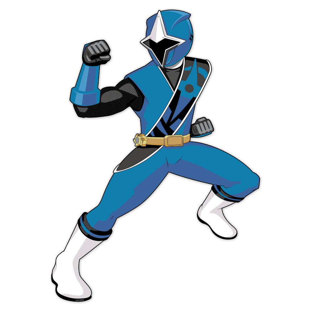 Power Rangers Ninja Steel Blue Ranger Poster Wall Decal Peel & Stick Removable Vinyl Sticker