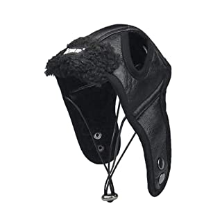 POPETPOP Cappello di Pilota in Pelle da Invernali per Cani e Gatti L
