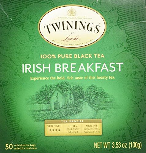 Twinings Irish Breakfast Black Bagged Tea, 50 (Irish Breakfast Green Tea)