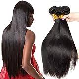 Ali Moda Peruvian Straight Virgin hair 3 Bundles Human Hair Weave Extensions Natural Color