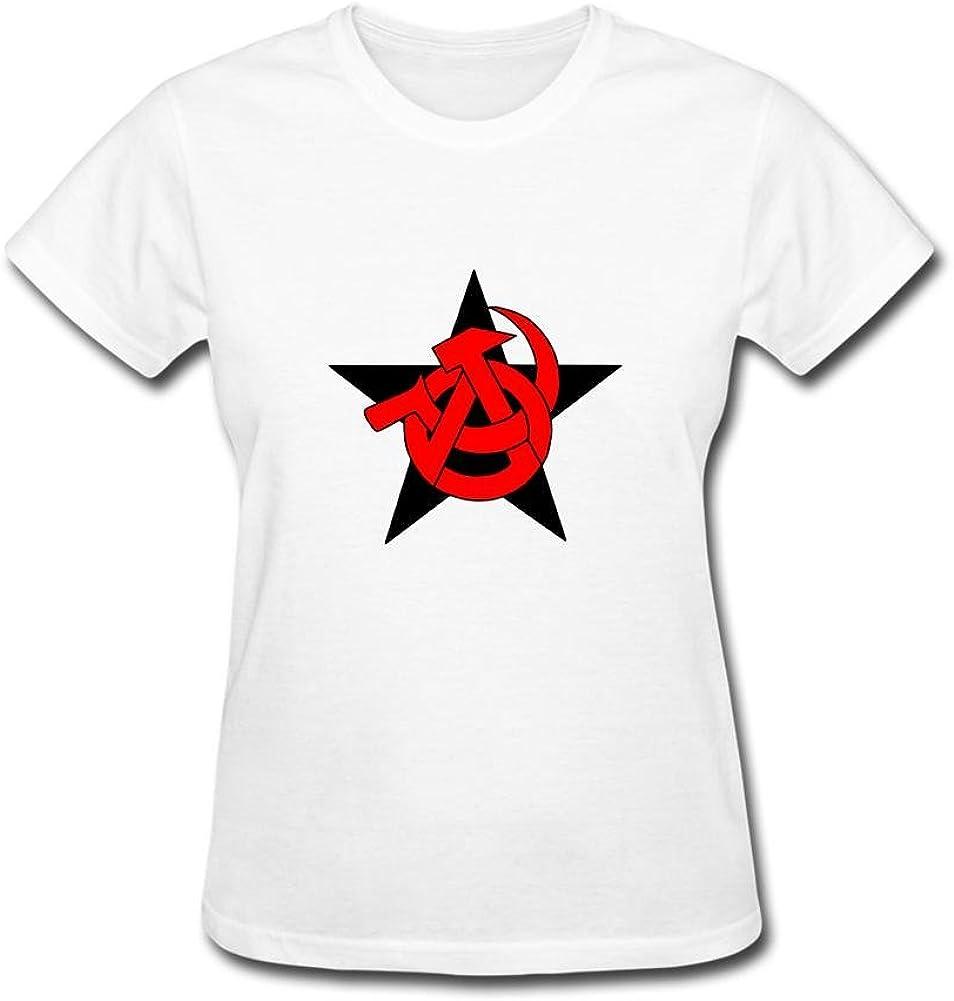 ZHENGXING Mujer Anarchist Comunista Logo Manga Corta Camiseta XXL Colorname