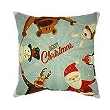 "Pillow Case,Vovotrade Xmas Christmas Sofa Bed Home Decoration Festival Pillow Case Cushion Cover 45cmx45cm/17.7''x17.7"" (E)"