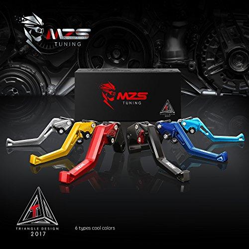 MZS Adjustment Brake Clutch Levers for Yamaha Banshee 350 YFZ350 2002-2008,Blaster 200 YFS200 2004-2006,Raptor 660 YFM660 2001-2004,Warrior 350 YFM350X 2002-2004,Wolverine 350 YFM350FX 2002-2005 Black by MZS (Image #8)'