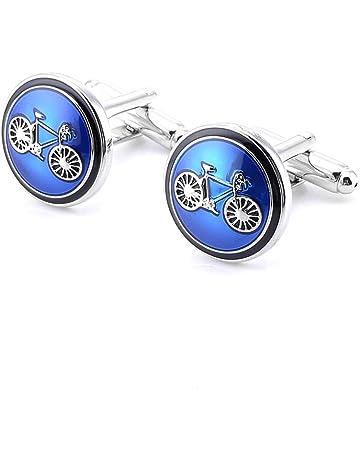 Wicemoon Mancuernas Azules de La Bicicleta del Esmalte de La Mancuerna de La Bici para La