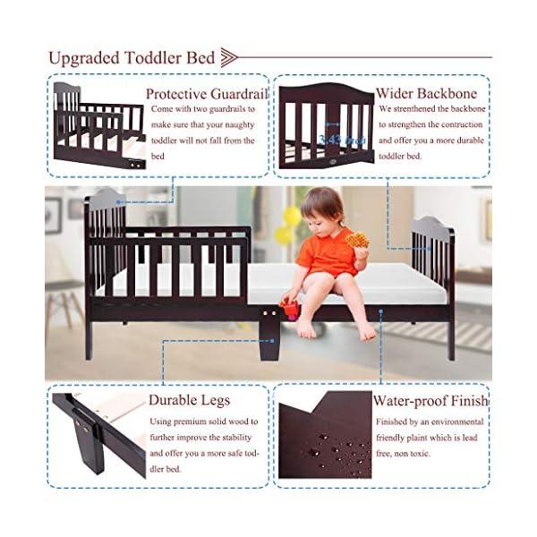 Bonnlo Contemporary Wooden Toddler/Kid Bed Frame Kids Bedroom Furniture 3