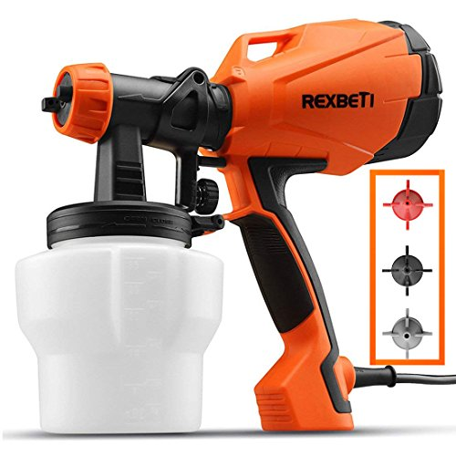 - REXBETI Ultimate-750 Paint Sprayer, HVLP Home Power Painter with 3 Spray Patterns Flow Control, 750ml/min