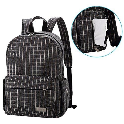 lekebaby cambiar pañales mochila con cambiador y cochecito Clip para uso diario, franela cuadros
