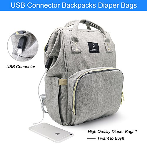 163eec07c175 inxxmix Diaper Bag Backpack with Large Capacity and USB Charging Port