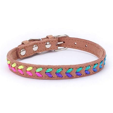 HAOKAN Collar De Mascota Pequeños Gatos Collares Gatito Accesorios para Mascotas Collar Retráctil para Collares De