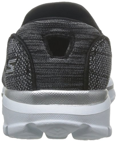 Super Negro Sock Mujer Skechers 3 Zapatilla Baja HndcdB1R