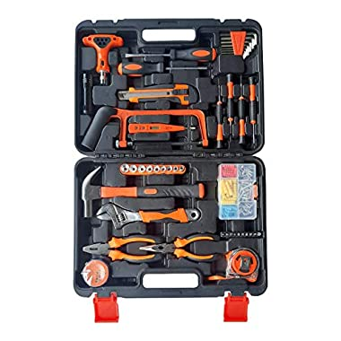 IBELL TB145-9, 145 Piece Socket Alloy Steel Wrench Auto Repair Tool Combination Package Mixed Tool Set Hand Tool Kit with Plastic Toolbox Storage Case 5