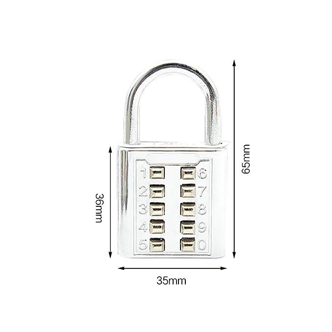 Amazon.com: Zhi Jin 5 Pack Cerradura de combinación Código ...