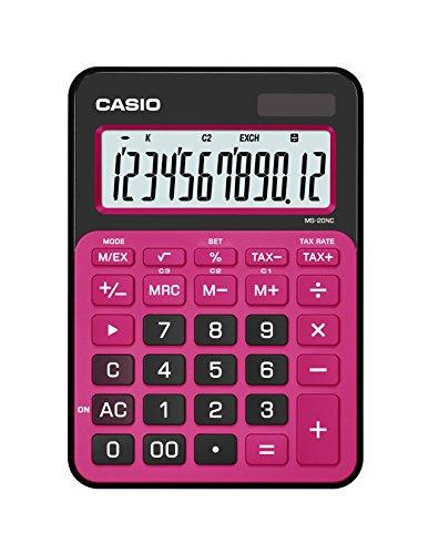 Casio MS-20NC-BRD-S-DC Calculadora, Color Rojo, Pequeño